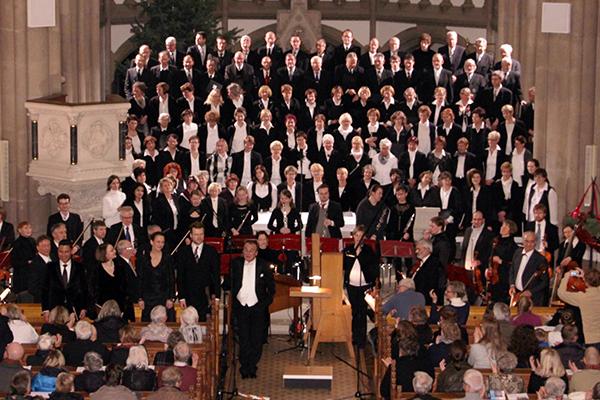 Weihnachtsoratorium in der Marienkirche, aufgeführt vom Zittauer Projektchor 2014