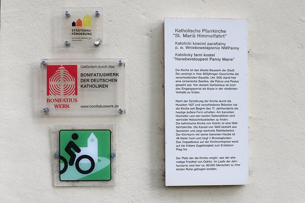 Kennzeichnung als Radwegekirche