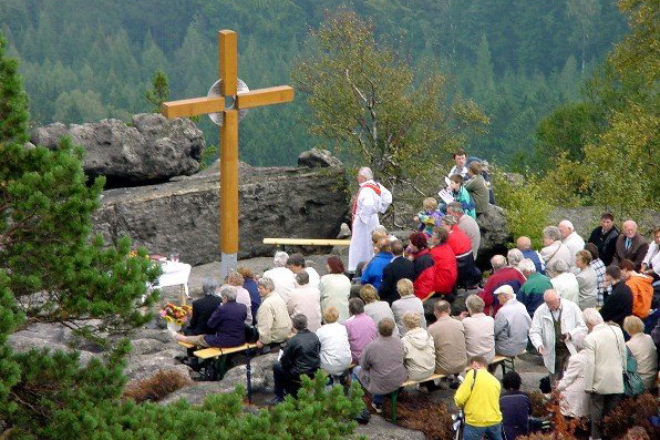 Urlauber-Seelsorge - Gottesdienst auf dem Töpfer, Foto: Johannes Johne