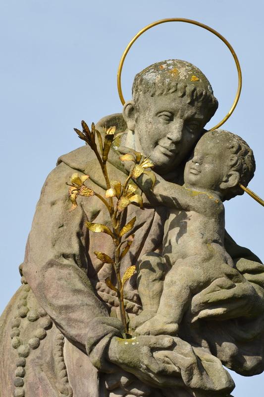 Antonius von Padua – Statue an der Brauerei Swijan/Svijany