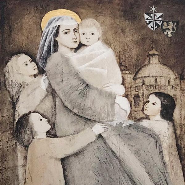 """Hl. Zdislava von Lämberg – Bild in der kath. Pfarrkirche """"St. Jakobus"""" Münchengrätz/Mnichovo Hradiště"""