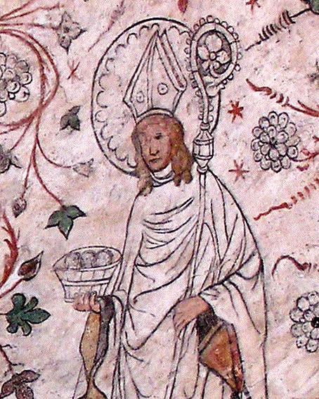 Siegfrid von Växjö – Wandbild in der Kirche Överselö, Quelle: Wikipedia