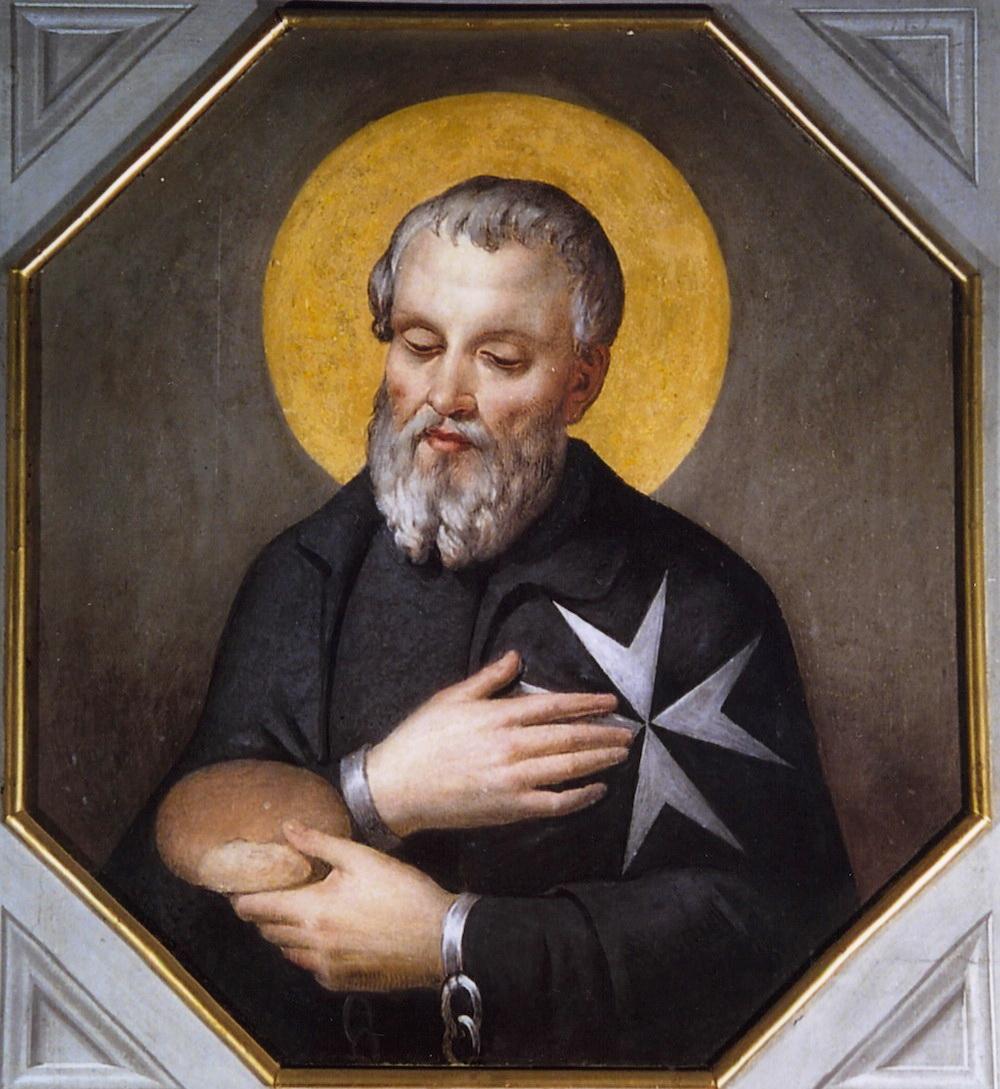 Gerhard Sasso – Fresko in der Kapelle des Großmeisteramtes in Rom, Quelle: wikipedia