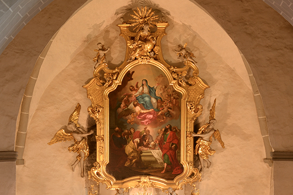 Kirche Ostritz - Altarbild Mariä Himmelfahrt