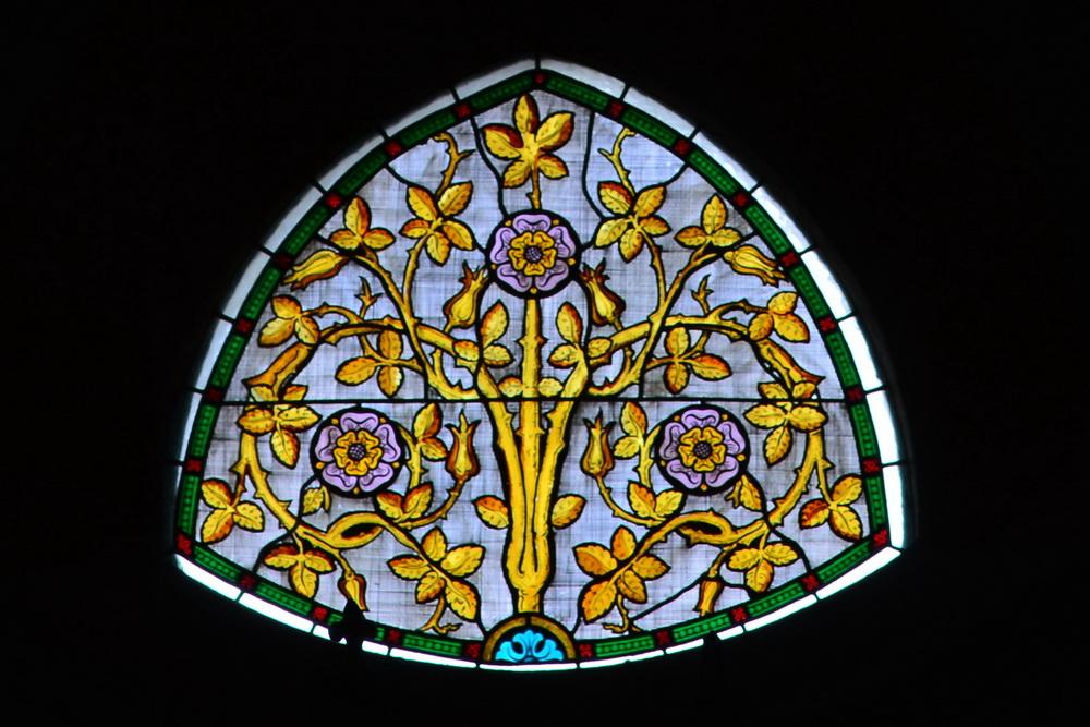 Löbau Kirche Rosenfenster