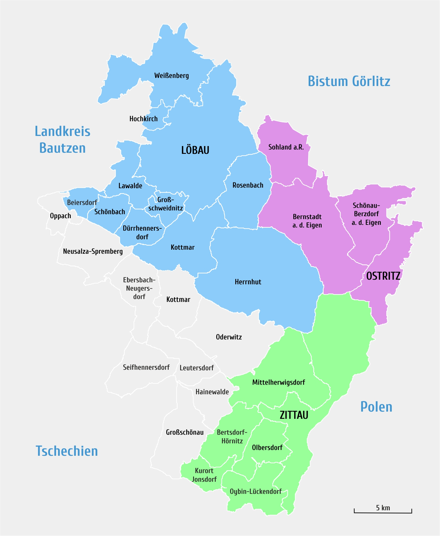 Karte des Pfarreigebiets
