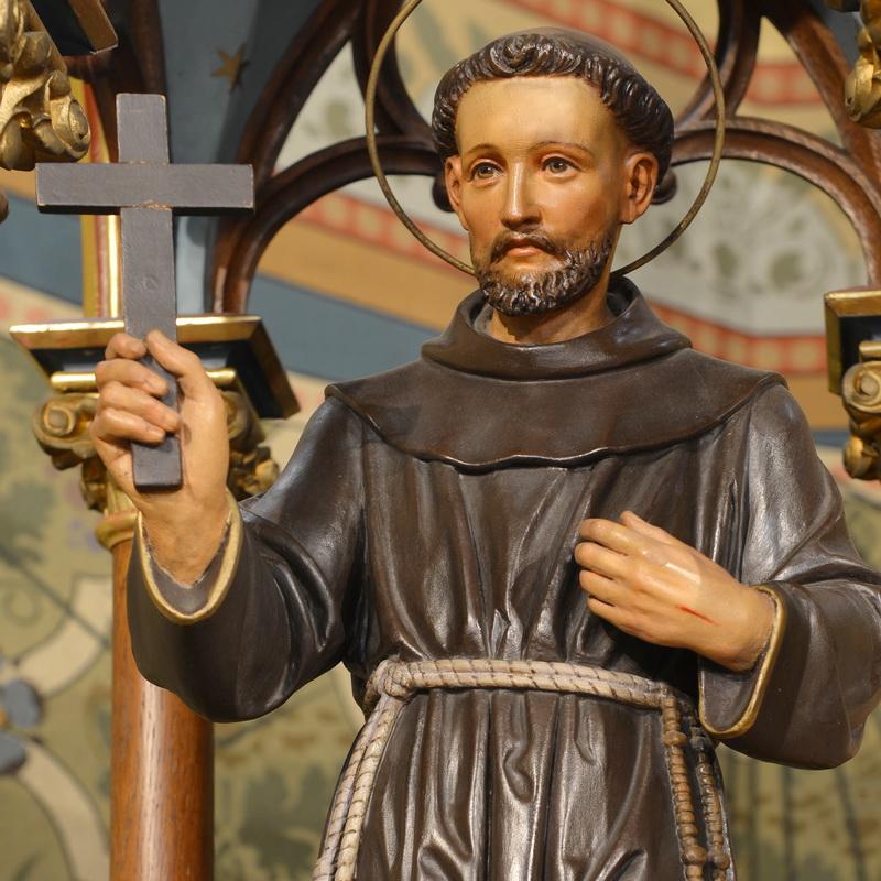 Franz von Assisi – Statue in der Kirche Löbau