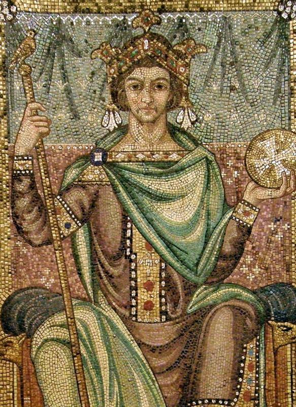 Heinrich II. – Mosaik im Berliner U-Bahnhof Richard-Wagner-Platz, Foto: Wikipedia