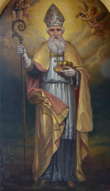 Nikolaus von Myra – Ölbild in der Kirche Bernstadt