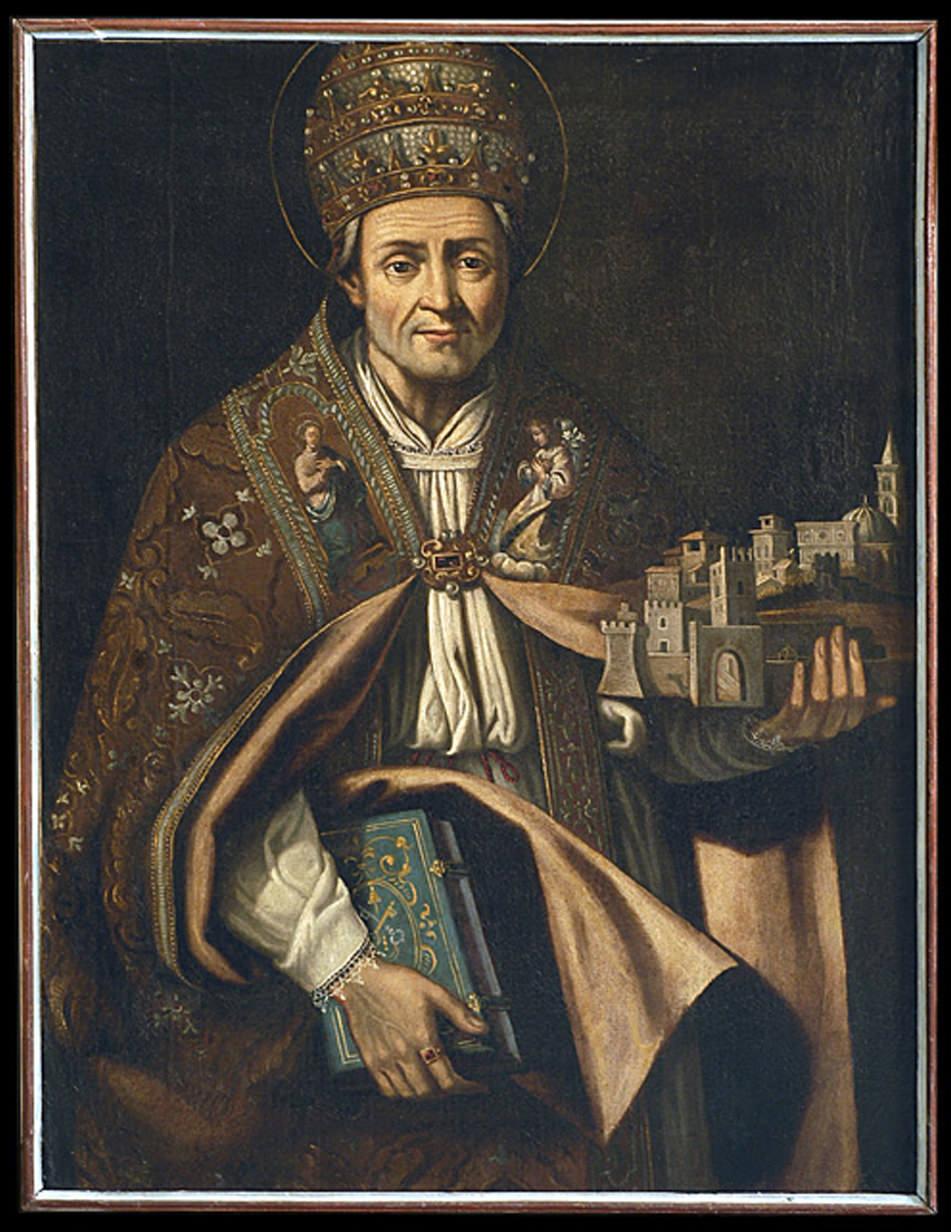 Coelstin V – Gemälde von Giulio Cessare Bedeschini im Museo de l'aquila, Italien, Quelle: wikipedia