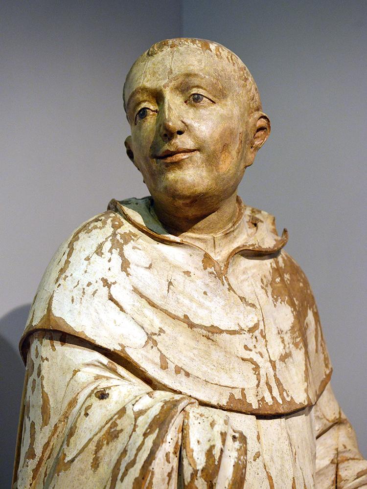 Bernhard von Clairvaux – Holzstatue im Zittauer Stadtmuseum