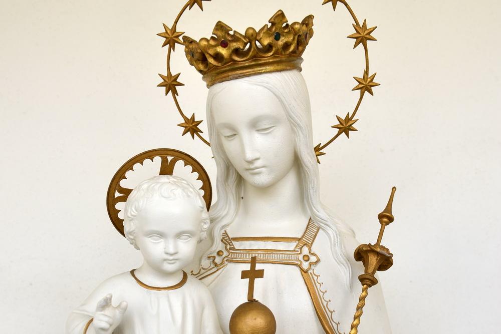 """Maria - Figur in der Kirche """"Mariä Himmelfahrt"""", Ostritz"""